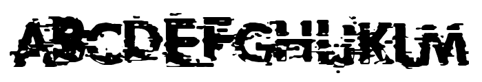 Extreme Glitch Font UPPERCASE