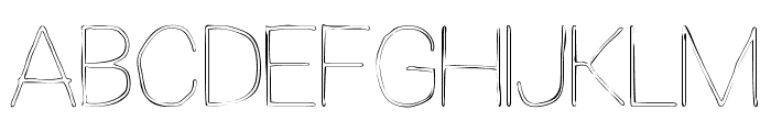 Extreme Simple Font UPPERCASE
