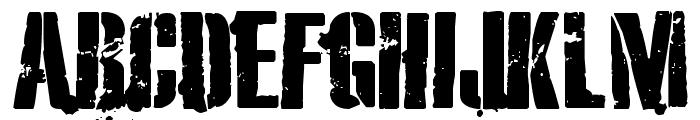 eXO2 Stencil Font UPPERCASE