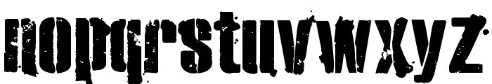 eXO2 Stencil Font LOWERCASE