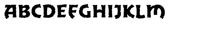 Excalibur Stone Cold Font UPPERCASE