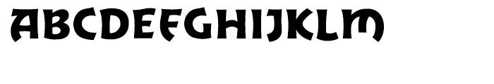 Excalibur Sword Thrust Font UPPERCASE