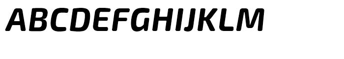 Exo Soft Bold Italic Font UPPERCASE