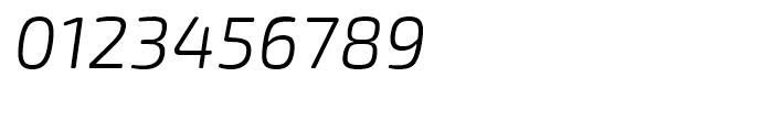 Exo Soft Light Italic Font OTHER CHARS