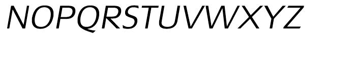 Extension Light Italic Font UPPERCASE