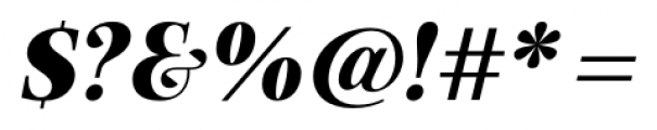 Exquise FY Black Italic Font OTHER CHARS