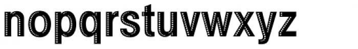 Example Bold Holed Font LOWERCASE