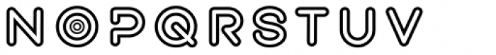 Exarros Outline Font LOWERCASE