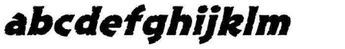 Excalibur Stone Bold Italic Font LOWERCASE
