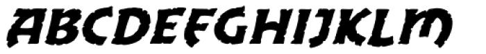 Excalibur Stone Cold Italic Font UPPERCASE