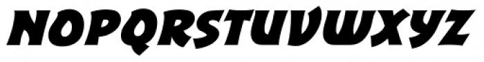 Excalibur Sword Thrust Bold Italic Font LOWERCASE