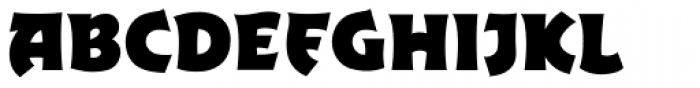 Excalibur Sword Thrust Bold Font UPPERCASE