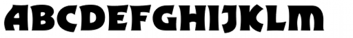 Excalibur Sword Thrust Bold Font LOWERCASE