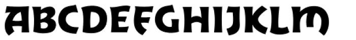 Excalibur Sword Font UPPERCASE