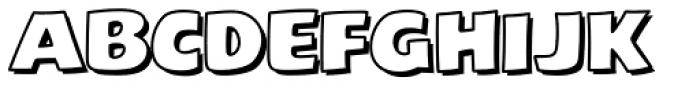 Excelsius Outline Font UPPERCASE