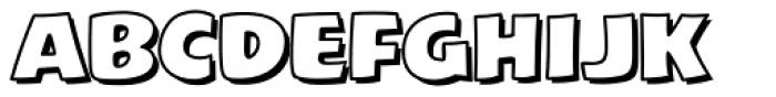 Excelsius Outline Font LOWERCASE