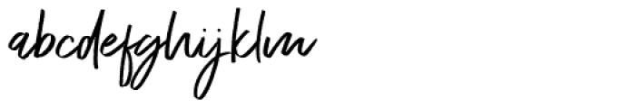 Exceptional Regular Font LOWERCASE