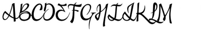 Excritura Pro Regular Font UPPERCASE