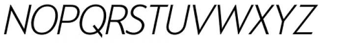 Exec ExtralightItalic Font UPPERCASE