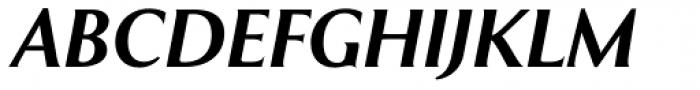 Exemplar Pro ExtraBold Italic Font UPPERCASE