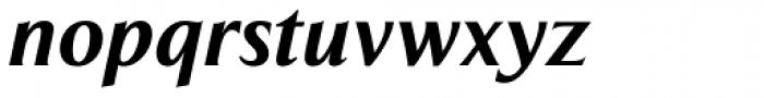 Exemplar Pro ExtraBold Italic Font LOWERCASE