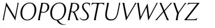 Exemplar Pro Light Italic Font UPPERCASE