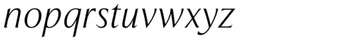 Exemplar Pro Light Italic Font LOWERCASE