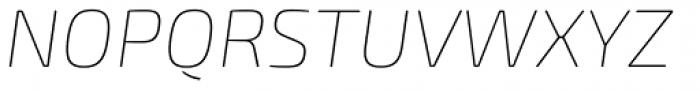 Exo Soft Thin Italic Font UPPERCASE