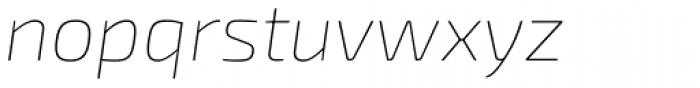 Exo Soft Thin Italic Font LOWERCASE