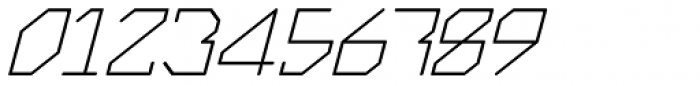 Exogenetic Italic Font OTHER CHARS