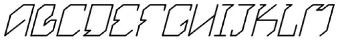 Exogenetic Italic Font UPPERCASE