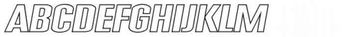 Expansion N34 Font UPPERCASE