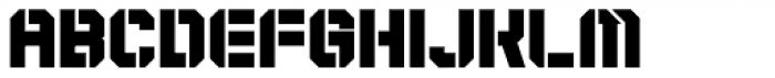 Expedition Stencil Super Font LOWERCASE