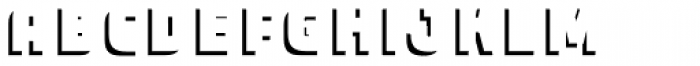 Expreso Sombra 2 Simple Font LOWERCASE