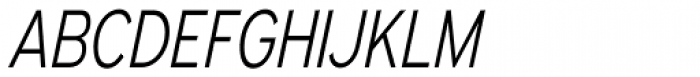 Expressway Condensed Light Italic Font UPPERCASE