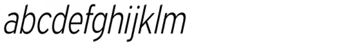 Expressway Condensed Light Italic Font LOWERCASE