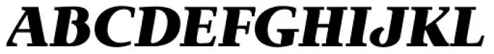 Exquisite Pro Black Italic Font UPPERCASE