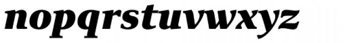 Exquisite Pro Black Italic Font LOWERCASE