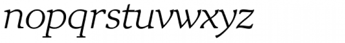 Exquisite Pro Light Italic Font LOWERCASE