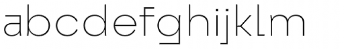 Exter Extra Light Font LOWERCASE