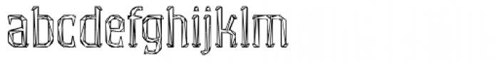 Exvoto Wattle Font LOWERCASE