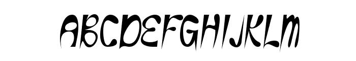 Eye Rhyme Font UPPERCASE