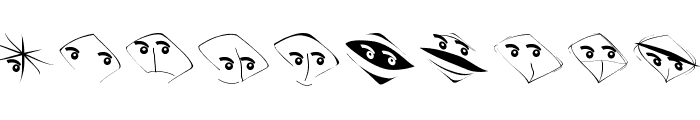 EyeBeings Font OTHER CHARS