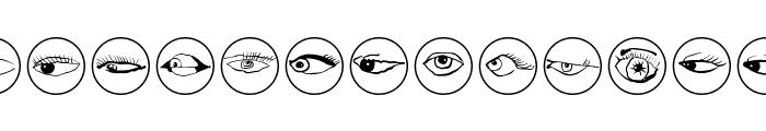 EyeEyeOnBlack Font LOWERCASE