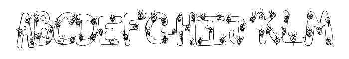 EyeScare Font UPPERCASE