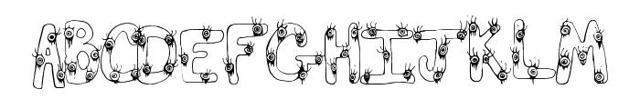EyeScare Font LOWERCASE