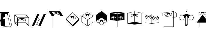 EyeSee Font UPPERCASE