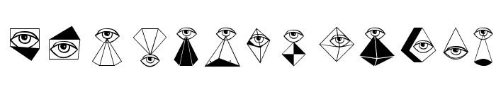 EyeSee Font LOWERCASE