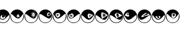 Eyeballs Font UPPERCASE