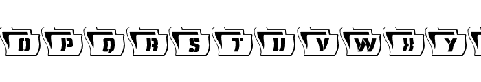 Eyes Only Outline Wavy Font LOWERCASE